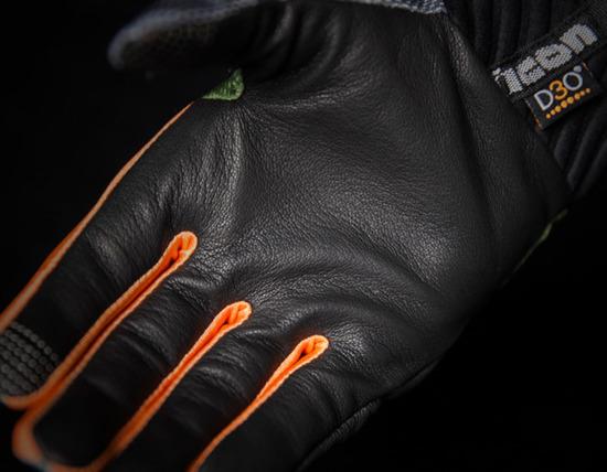 Rękawice Motocyklowe ICON ANTHEM DEPLOYED Green